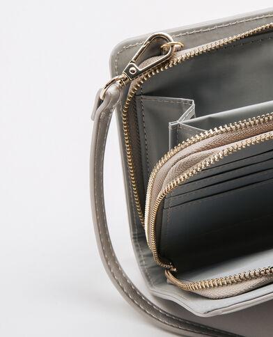 Portefeuille-Tasche Grau