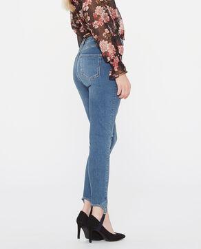 Jeans skinny de tubo azul
