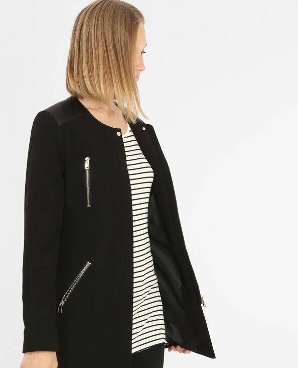 Summer coat con cremallera negro
