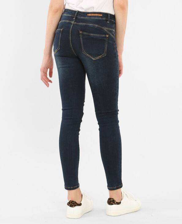 Jeans skinny push-up azul