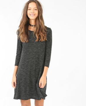 Vestido trapecio gris