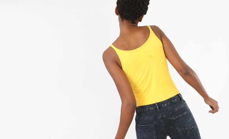 Débardeur basique jaune
