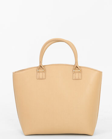 Grand sac rigide caramel