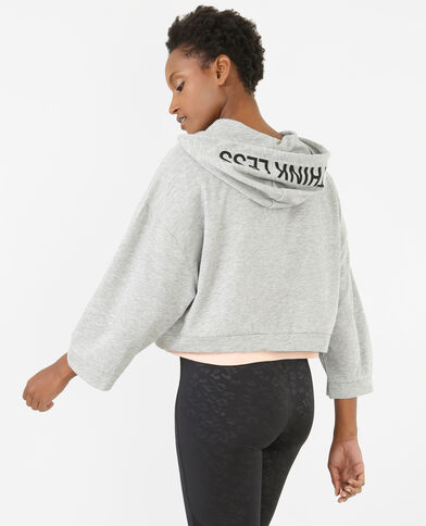 Sweat cropped sport gris chiné