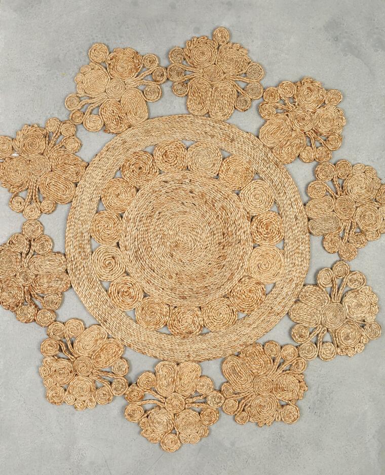 tapis soleil en jute beige taupe 904625742a07 pimkie. Black Bedroom Furniture Sets. Home Design Ideas