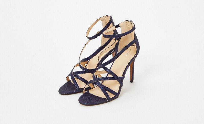 Sandales à talons aiguilles bleu