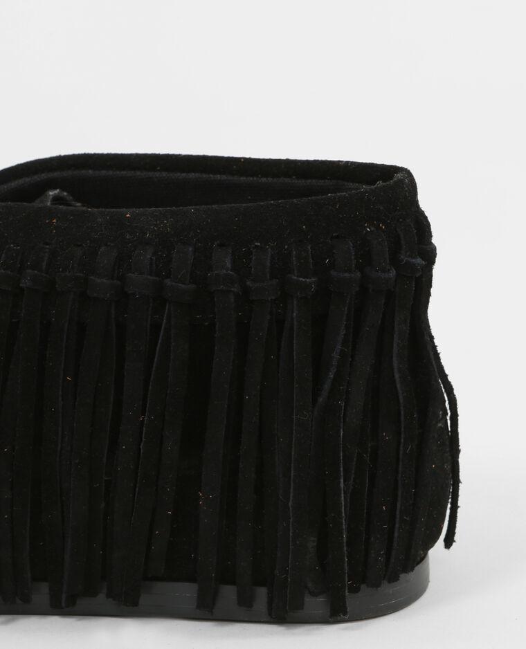 stiefeletten mit fransen schwarz 986113899a08 pimkie. Black Bedroom Furniture Sets. Home Design Ideas