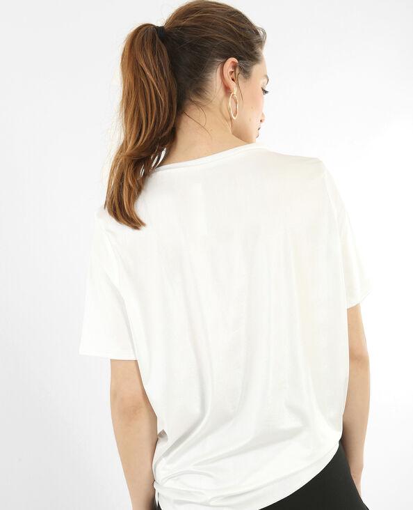 Schillerndes T-Shirt Weiß