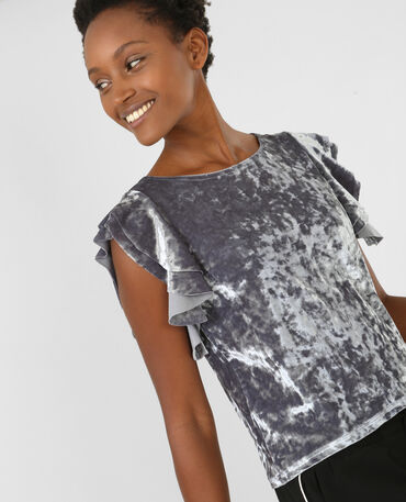 T-shirt velours gris