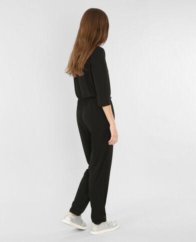 Combi-pantalon croisée noir