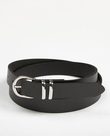 Cinturón de polipiel negro