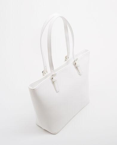 Große Shopper-Tasche Weiß