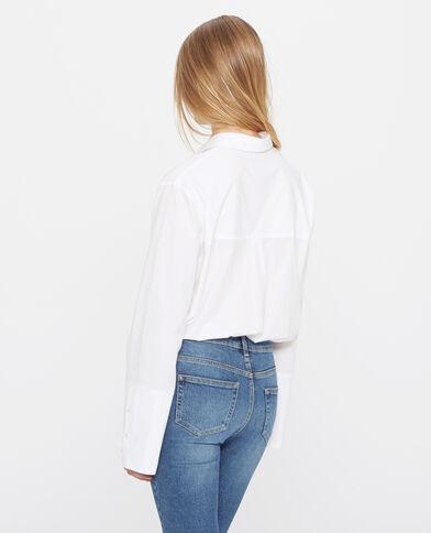 Chemise poche poitrine écru
