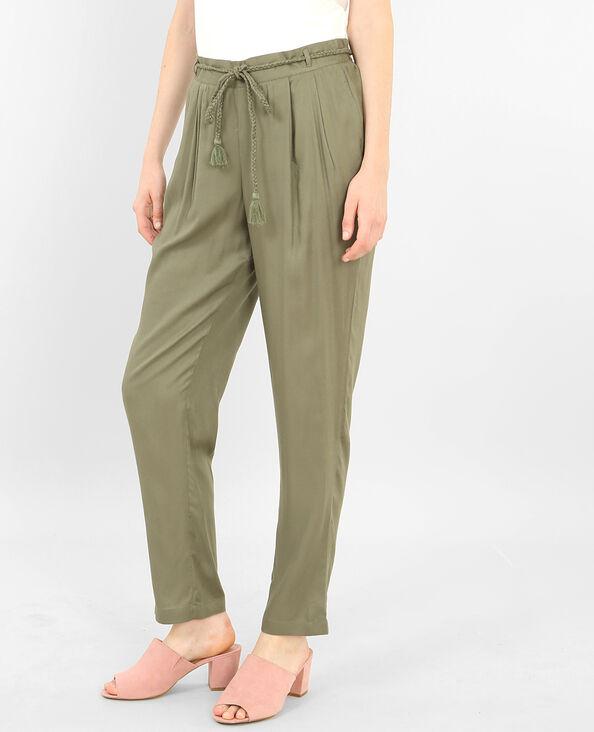 Soepele broek groen