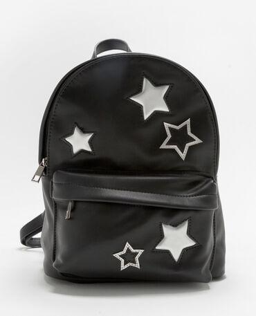 Zainetto stelle silver nero
