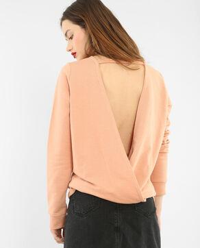 Sweatshirt mit offenem Rücken Braun