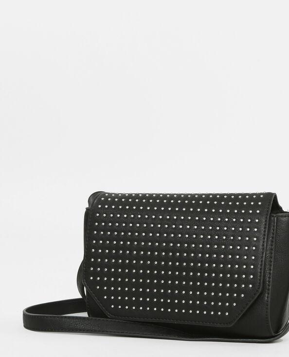 Piccola borsa boxy con borchie nero