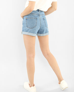 Mom-Shorts Denimblau