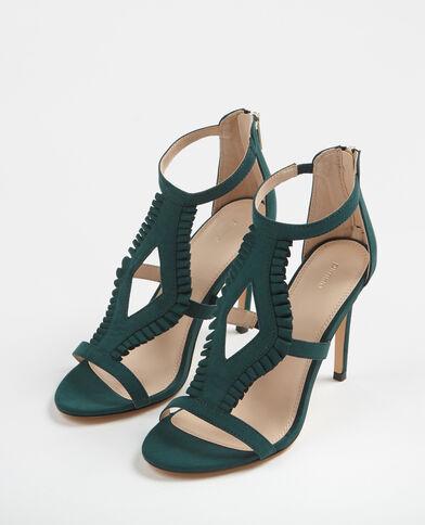 Sandalias de tacón alto verde abeto