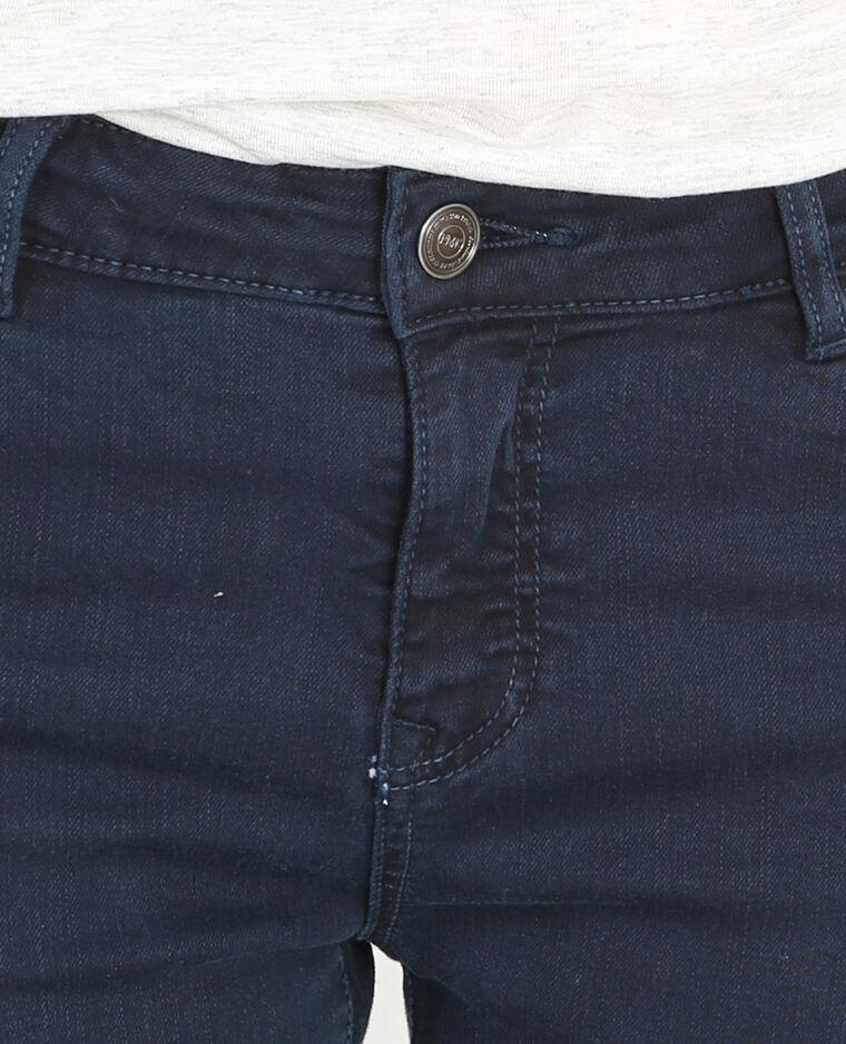 Skinny met rits marineblauw