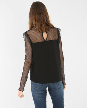 T-shirt bimatière noir