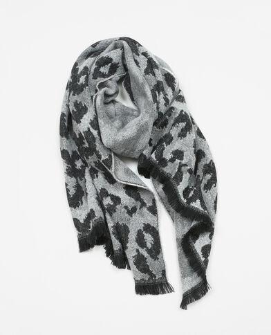 Echarpe léopard écru
