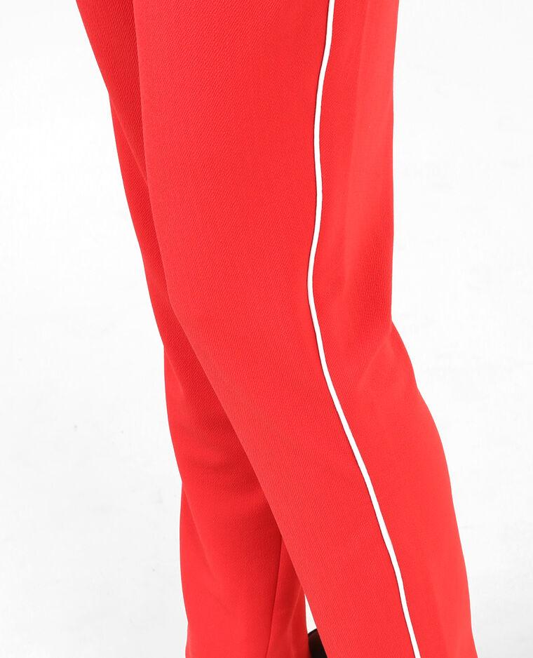 Jogpant fluide à bandes rouge