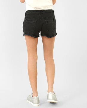 Mini-Shorts im Destroyed-Look Schwarz