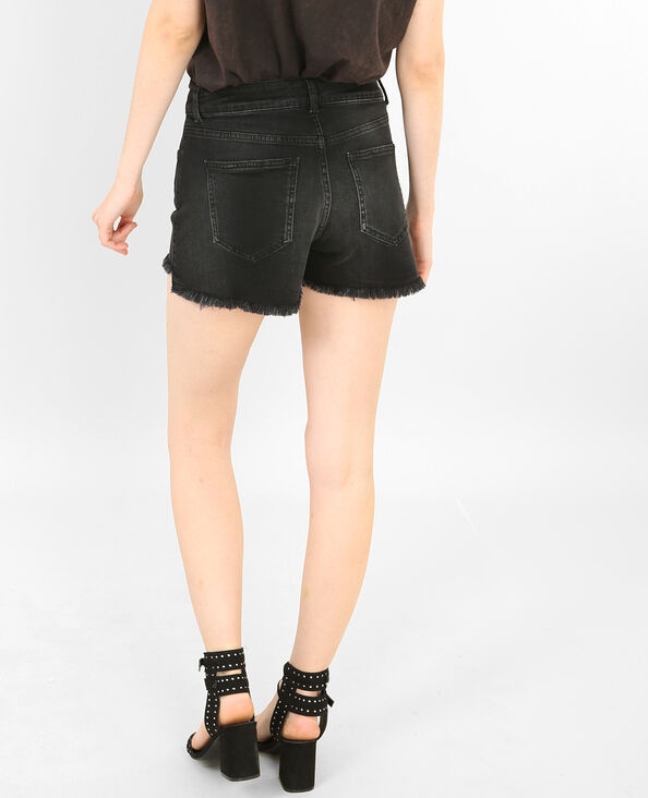Shorts con cremallera negro