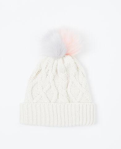 Mütze mit Pompon Grau