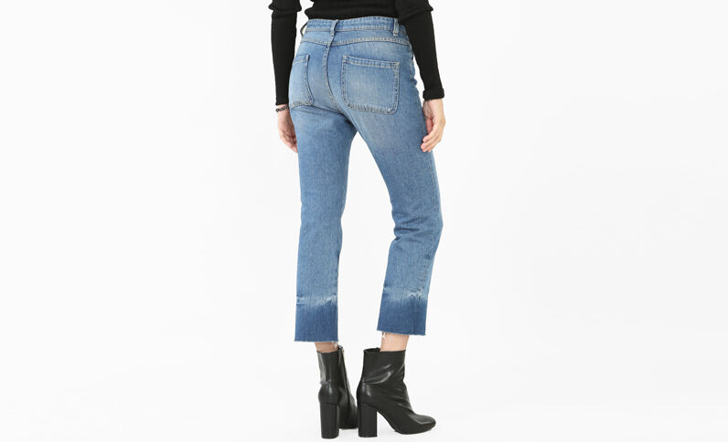 Bootcut-Jeans Denimblau