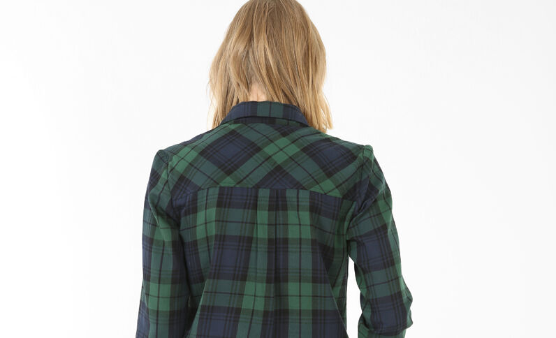 Camisa de cuadros verde