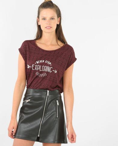 Camiseta burdeos burdeos