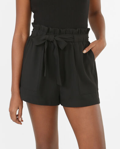 Locker fallende Shorts Schwarz