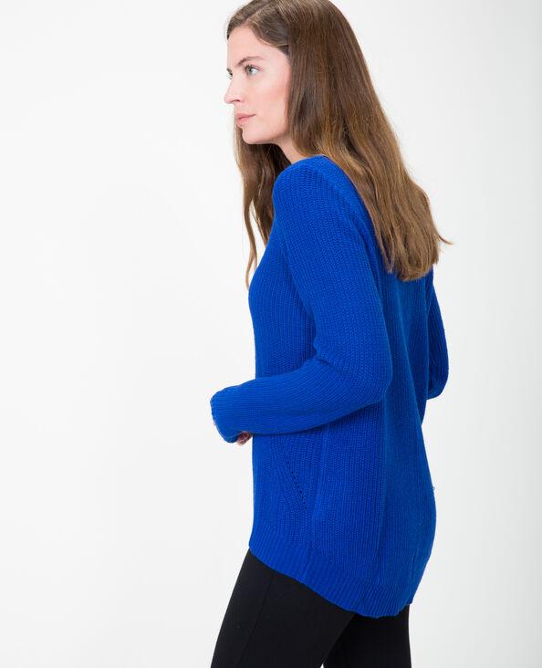 Basic trui elektrisch blauw