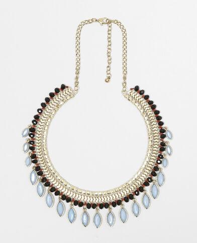 Halskette mit Anhängern Blau