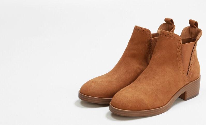 Chelsea-Boots Kastanienbraun