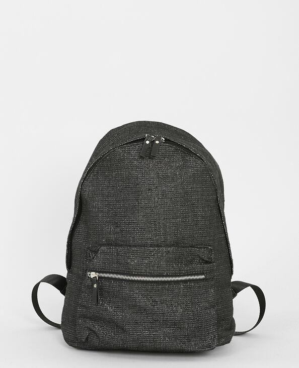 Rucksack aus Lurex Schwarz