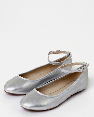 Bailarinas plateadas gris brillante