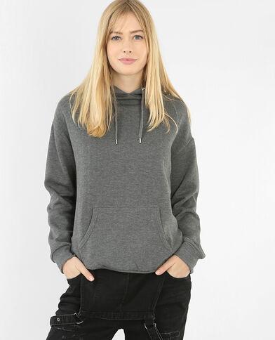 Sweater met kap grijs