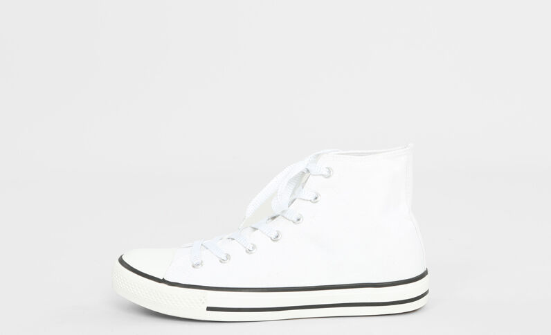 Scarpe da basket in tela bianco