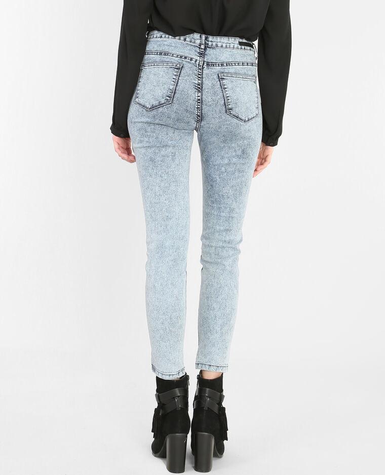 jeans mit hoher taille ausgewaschenes blau 175031b22a06. Black Bedroom Furniture Sets. Home Design Ideas
