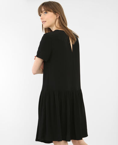 Robe à basque noir