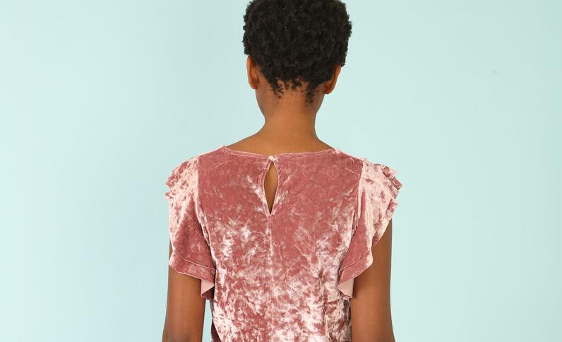 T-shirt velluto rosa