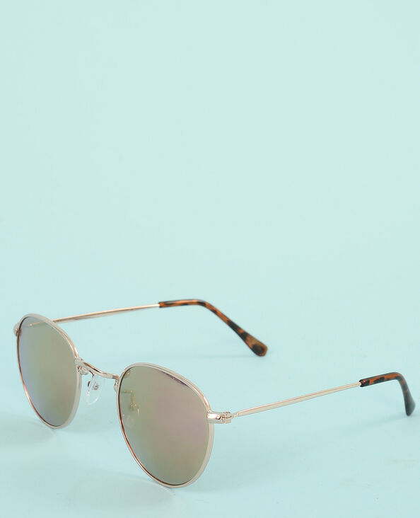 Runde Sonnenbrille Altrosa
