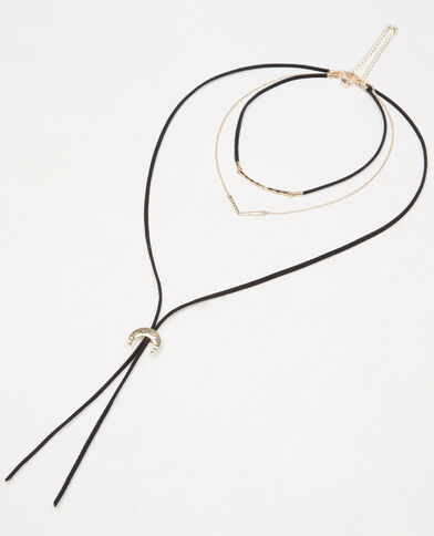 Collier choker multi-rangs doré