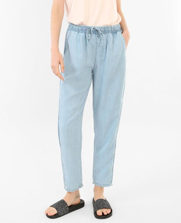 Pantalon fluide bleu clair