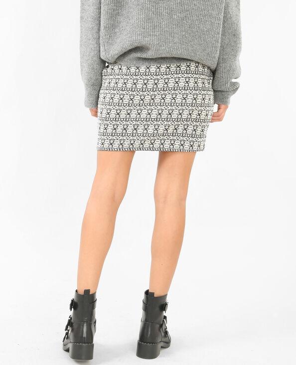 Mini jupe jacquard gris chiné