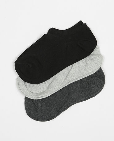 Lote de calcetines tobilleros gris