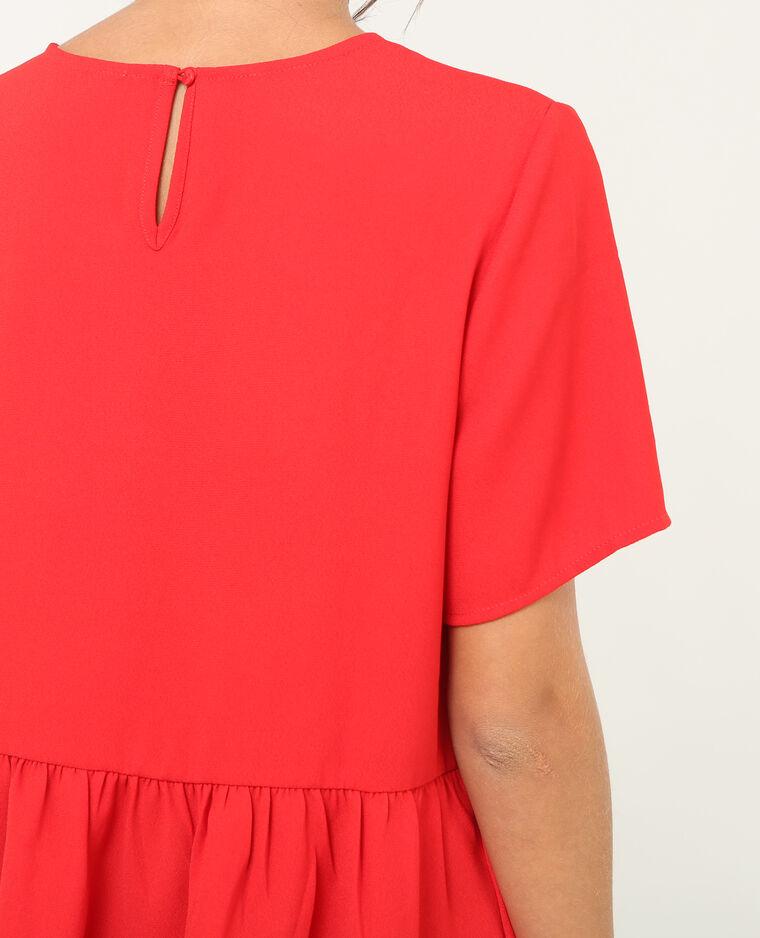 Weite Peplum-Bluse Rot